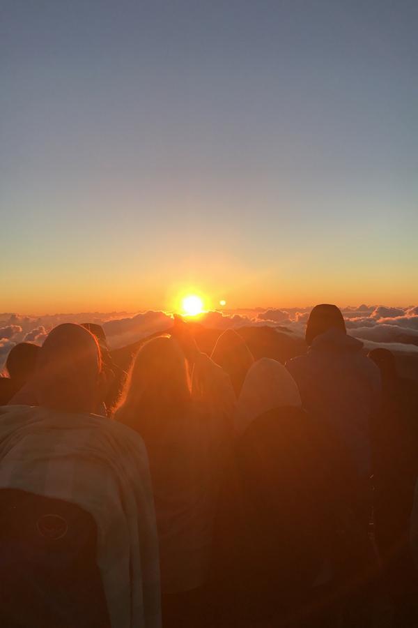 Sunrise at Halekala National Park.