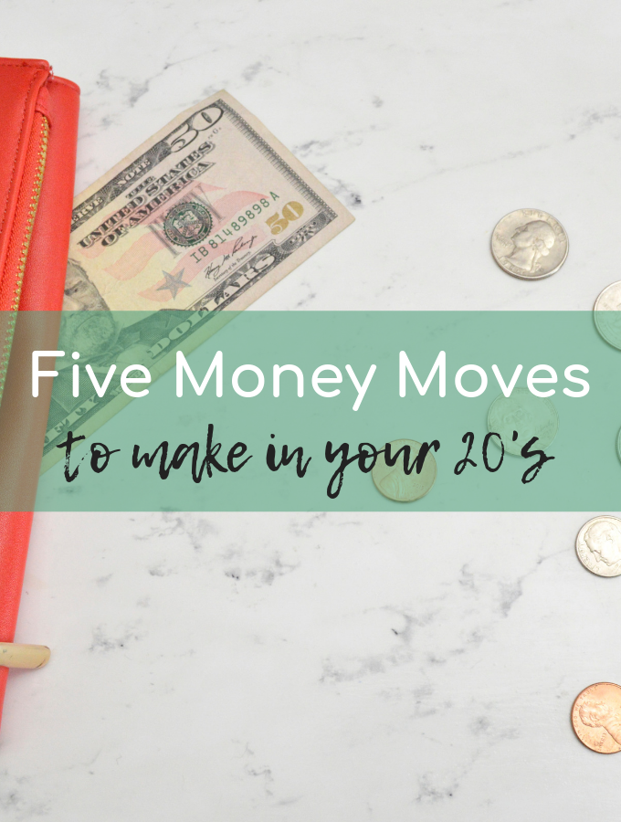 Understanding what to do with your money in your 20's is hard. Follow these 5 simple money moves and start taking charge of your money TODAY.