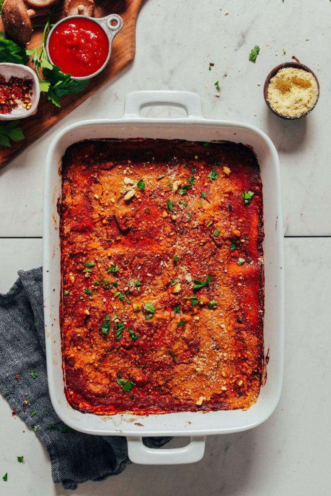 vegan lunch lasagna