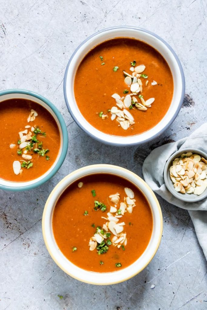 vegan lunch tomato soup