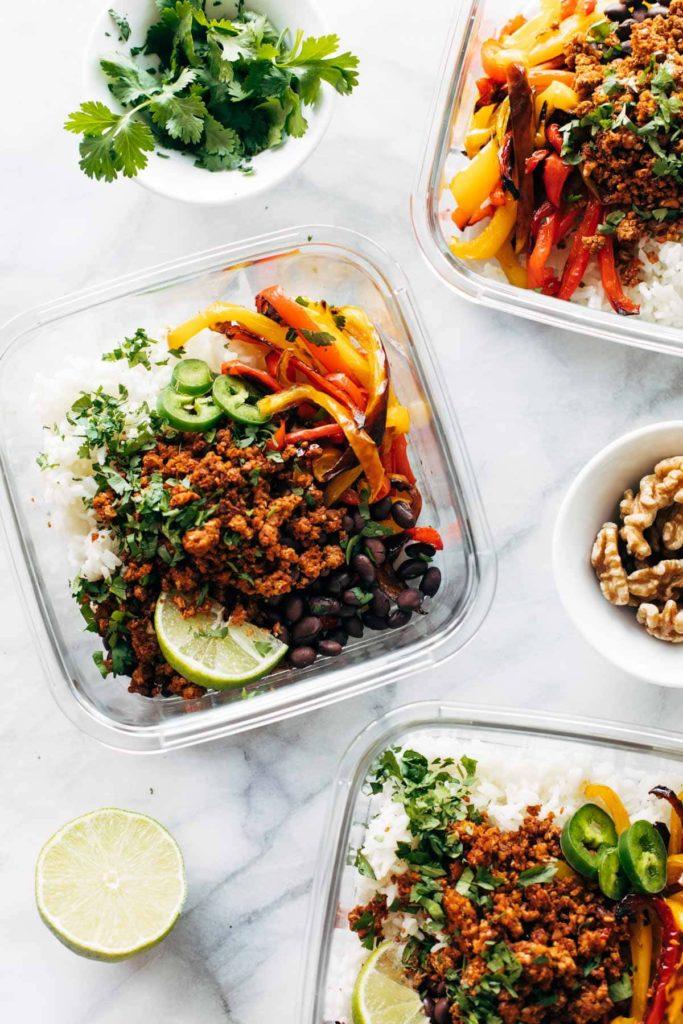 vegan lunch vegan burrito bowl Pinch of Yum